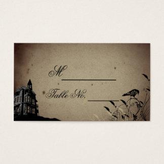 Cartão gótico do lugar do casamento da casa do