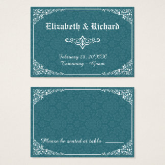 Cartão gótico verde do lugar do casamento tema