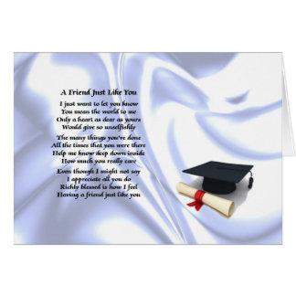 Cartão Graduação - poema do amigo