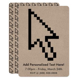 Cartão Gráfico da seta do cursor do rato