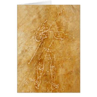 Cartão Grafites romanos do gladiador