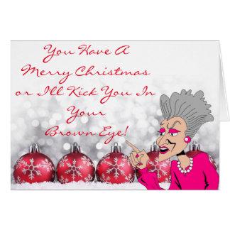 Cartão grande III da dama Natal