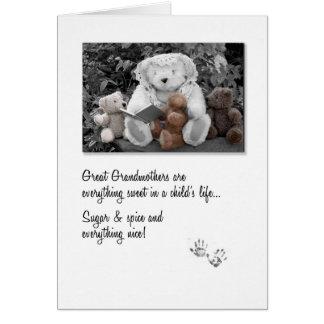 Cartão Grande urso de ursinho novo Storytime da avó
