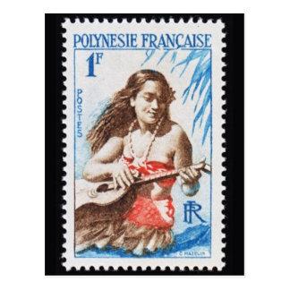 Cartão gravado vintage do selo