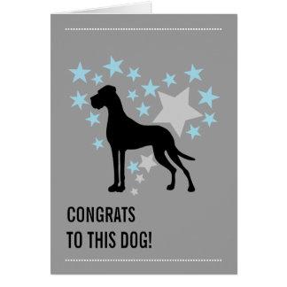 Cartão Great dane Congrats