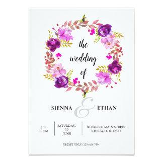 Cartão Grinalda das flores para todas as ocasiões