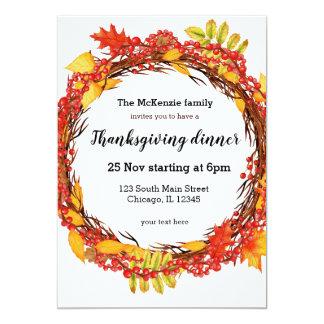 Cartão Grinalda das folhas de outono