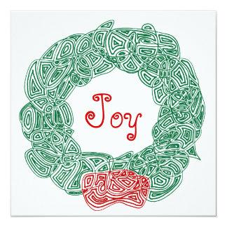 Cartão Grinalda do Natal da alegria