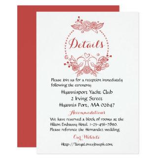 Cartão Grinalda floral do casamento de Borgonha dos
