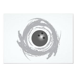 Cartão Grunge agradável da circular da boliche