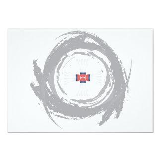 Cartão Grunge agradável da circular do Badminton