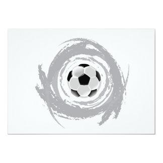Cartão Grunge agradável da circular do futebol