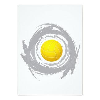 Cartão Grunge circular 2 do voleibol agradável