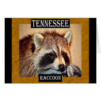 Cartão Guaxinim de Tennessee