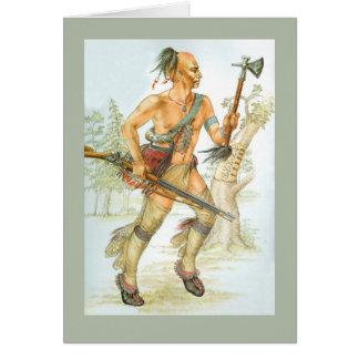 Cartão Guerreiro do Mohawk