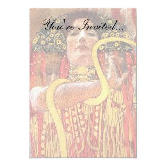 Cartão Gustavo Klimt - deusa da medicina de Hygieia da