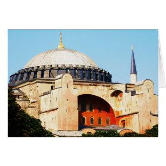 Cartão Hagia Sophia na IMAGEM de Constantinople