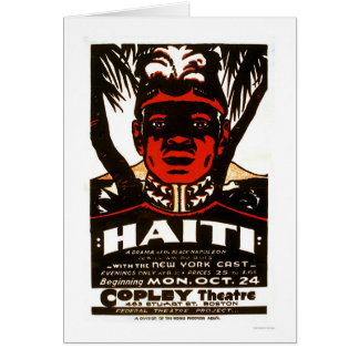 Cartão Haiti Napoleon preto WPA 1938