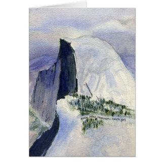 Cartão Halfdome do ponto da geleira, Yosemite