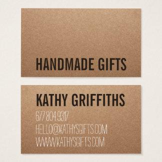 Cartão handmade marrom moderno rústico do papel de