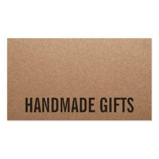 Cartão handmade marrom moderno rústico do papel de cartão de visita