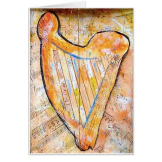 Cartão harpa do ouro