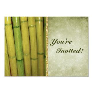Cartão Hastes de bambu verdes do asiático | do zen