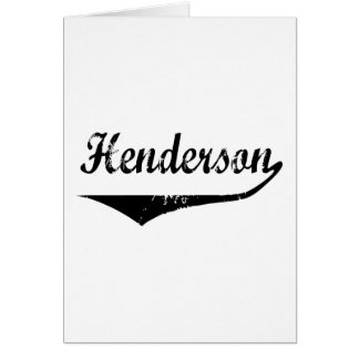Cartão Henderson