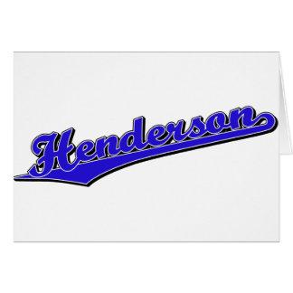 Cartão Henderson no azul