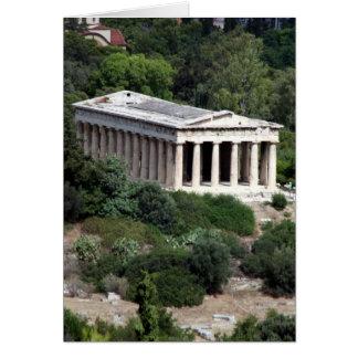Cartão hephaestus do templo
