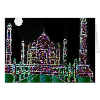 Cartão Herança da arquitetura de TAJ Mahal Moghul que