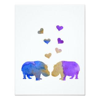 Cartão Hipopótamos