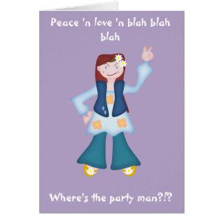Cartão Hippy da boneca do delinquente