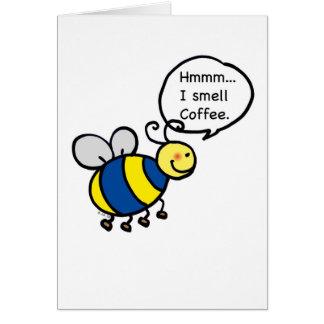 Cartão Hmmm… Eu cheiro o café