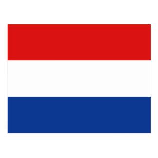 Cartão holandês da bandeira