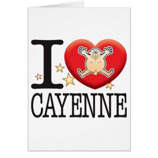 Cartão Homem do amor de Pimenta de Caiena