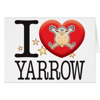Cartão Homem do amor do Yarrow