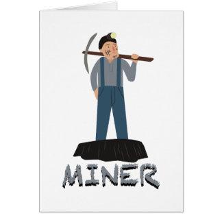 Cartão Homem do mineiro