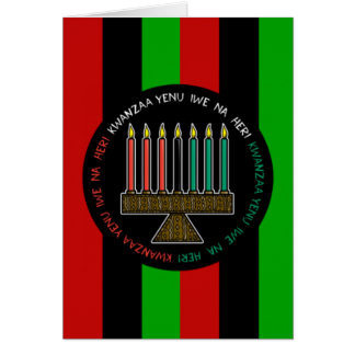 Cartão Honrando o feriado Notecards de Kwanzaa da herança