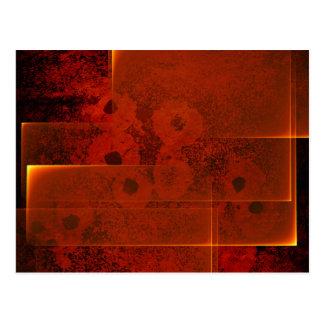 Cartão horizontal da paisagem impetuosa abstrata