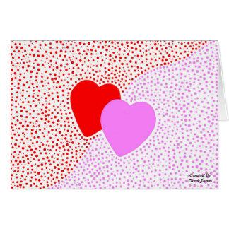Cartão horizontal da surpresa do coração