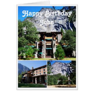 Cartão Hotel Yosemite de Ahwahnee do feliz aniversario de