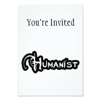 Cartão Humanista em preto e branco