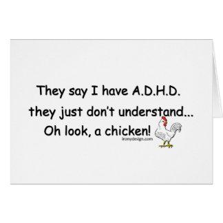 Cartão Humor da galinha de ADHD