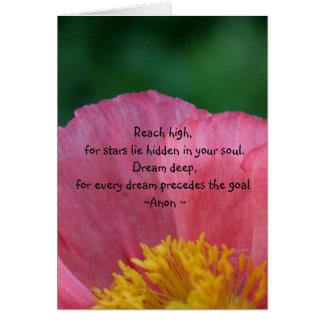 Cartão ideal inspirado das citações