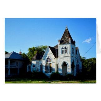 Cartão - igreja abandonada de Texas