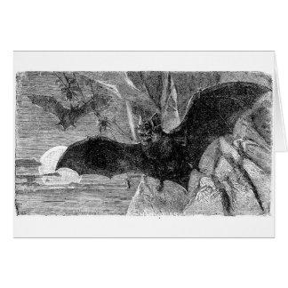 Cartão Ilustração 1885 do bastão de vampiro
