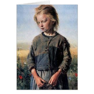Cartão Ilya Repin- uma menina de Fisher
