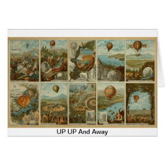 Cartão Impressão Ballooning 1795-1846 do vintage
