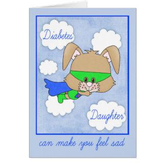 Cartão Incentivo para a filha com diabetes